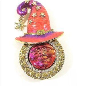 KIRKS FOLLY Stella Magic Seaview Moon With Hat Pin